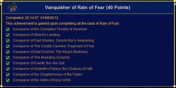 Vanquisher of Rain of Fear